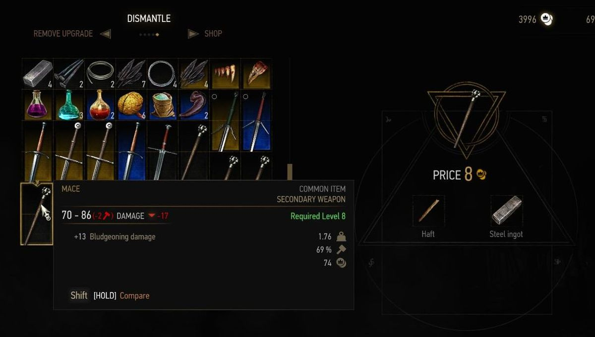 Witcher  Crafting Items To Keep